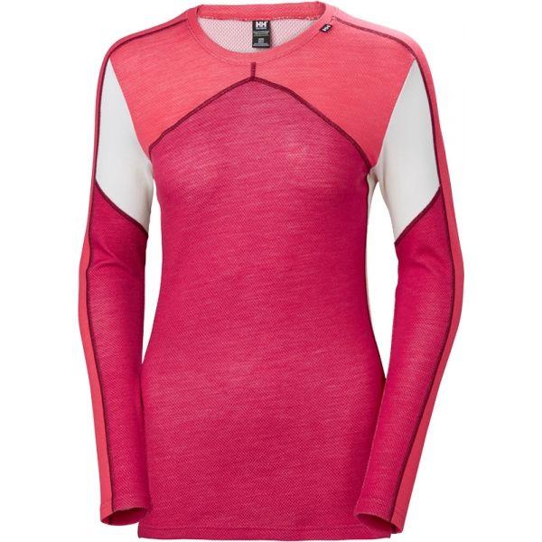 Helly Hansen LIFA MERINO CREW rózsaszín L - Női póló
