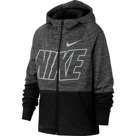 Hanorac sport băieți - Nike THRMA HOODIE FZ GFX - 1