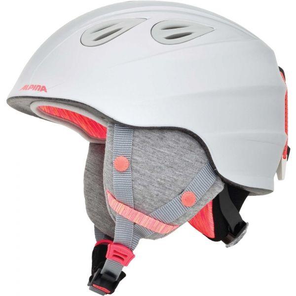 Alpina Sports GRAP 2.0 JR biela (51 - 54) - Detská lyžiarska prilba