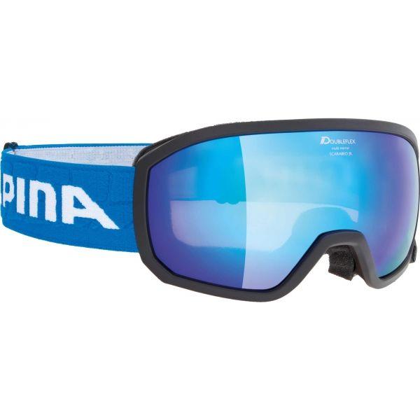 Alpina Sports SCARABEO JR MM fekete NS - Gyerek síszemüveg