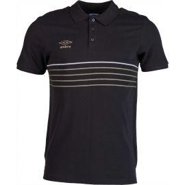 Umbro 5 STRIPE COTTON PIQUE POLO - Pánske polo tričko