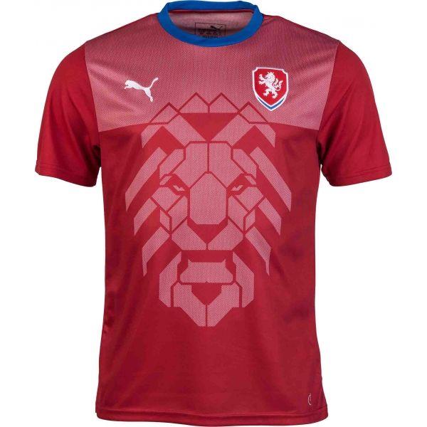 Puma CZECH REPUBLIC B2B červená S - Pánske tričko