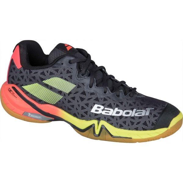 Babolat SHADOW TOUR bílá 10.5 - Pánská badmintonová obuv