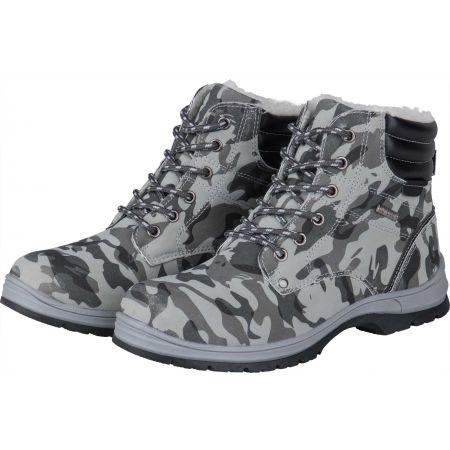 Dětská zimní obuv - Numero Uno CAMEL GREY KIDS - 2