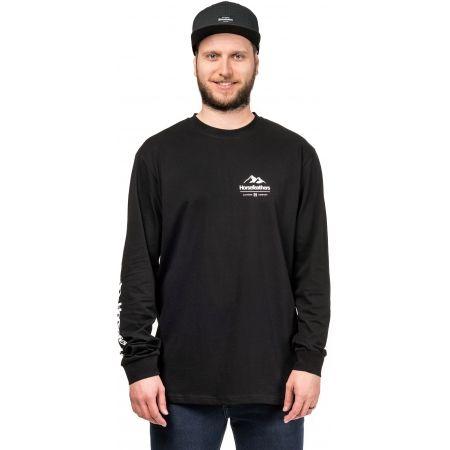 Мъжка блуза с дълъг ръкав - Horsefeathers KENT LS T-SHIRT - 1