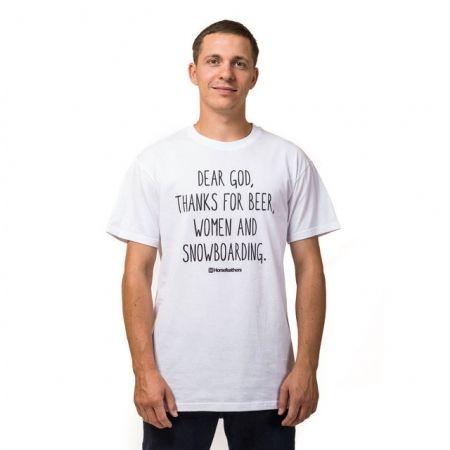 Мъжка тениска - Horsefeathers DEAR GOD T-SHIRT - 1