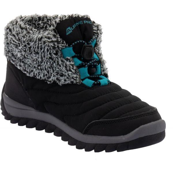 ALPINE PRO SOUNDO čierna 32 - Detská zimná obuv