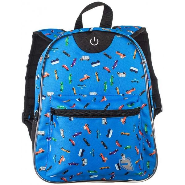 Runto RT-LEDBAG modrá  - Dětský batoh s LED osvětlením