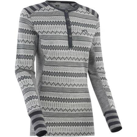 KARI TRAA AKLE - Women's long sleeve woollen T-shirt