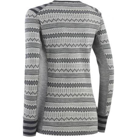 Dámské vlněné triko s dlouhým rukávem - KARI TRAA AKLE - 2