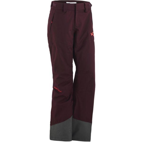KARI TRAA FRONT vínová M - Dámské lyžařské kalhoty