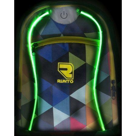 Plecak dziecięcy z oświetleniem LED - Runto RT-LEDBAG-TRIANGLES - 5