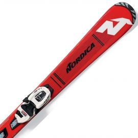Nordica TEAM J RACE + JR4.5 - Kids' downhill skis