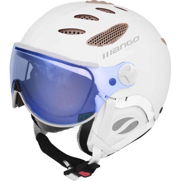 Mango CUSNA VIP biały (55 - 57) - Kask narciarski z szybą uniseks