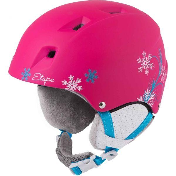 Etape SCAMP różowy (48 - 52) - Kask narciarski dziecięcy