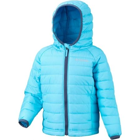 Dívčí zateplená bunda - Columbia POWDER LITE GIRLS HOODED JACKET - 1
