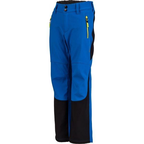 Lewro DAYK niebieski 116-122 - Spodnie softshell dziecięce