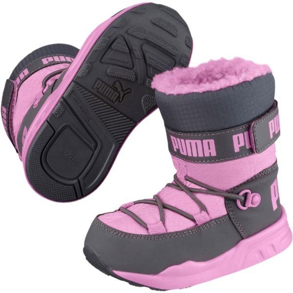Puma KIDS TRINOMIC BOOT PS różowy 12 - Buty zimowe dziecięce