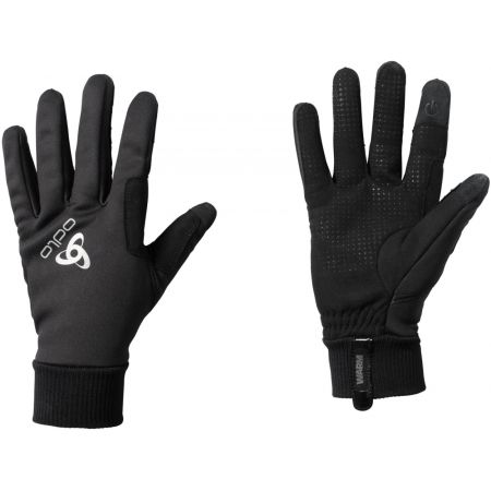 Bežkárske rukavice - Odlo GLOVES WINDPROOF WARM