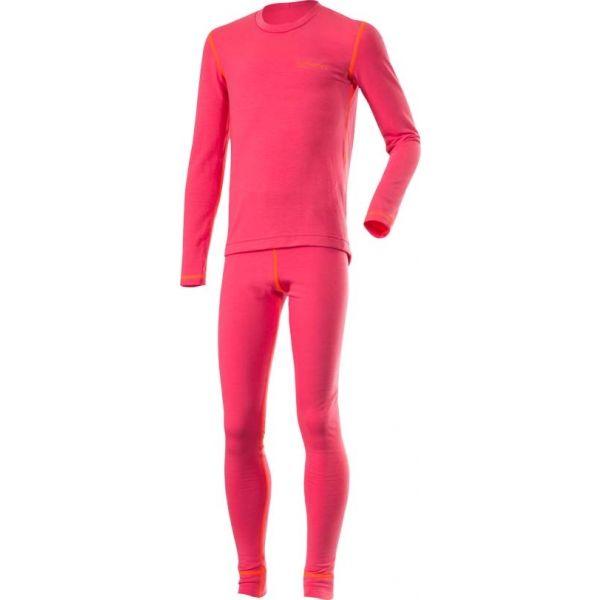 Klimatex ROKI ružová 110 - Set detského funkčného prádla