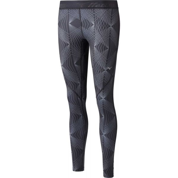 Mizuno IMPULSE PRINTED TIGHT szürke L - Női elasztikus nadrág