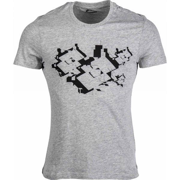 Lotto L73 IV TEE LOSANGA szary XL - Koszulka męska