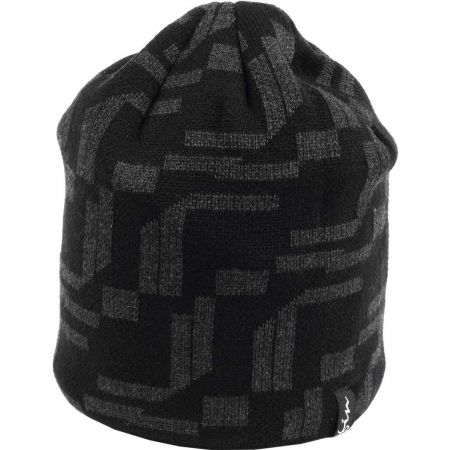 31e2e36c7b6 Pánská pletená čepice - Finmark ZIMNÍ ČEPICE