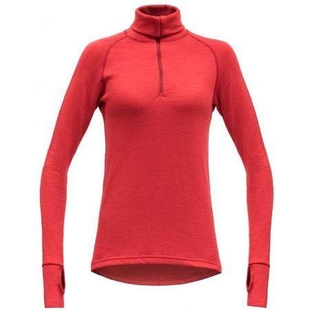 Devold EXPEDITION WOMAN ZIP NECK - Women's functional T-shirt