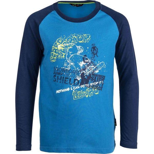 Lewro NORRIS niebieski 140-146 - Koszulka chłopięca