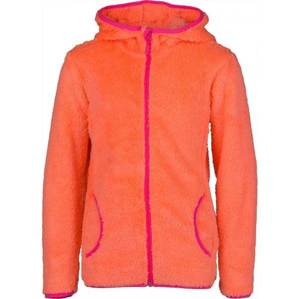 Lewro NELDA oranžová 164-170 - Dívčí fleecová mikina