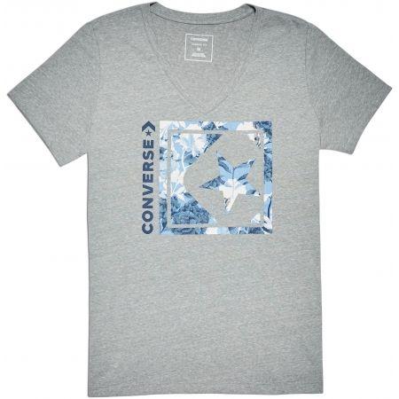 Converse LINEAR FLORAL BOX STAR VNECK TEE - Dámske tričko