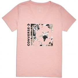 Converse LINEAR FLORAL BOX STAR VNECK TEE