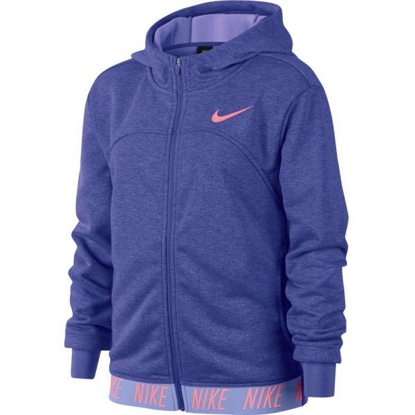 Nike DRY HOODIE FZ STUDIO modrá L - Dívčí sportovní mikina