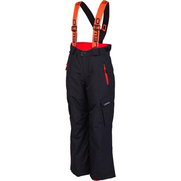 Lewro NIVES ružová 140-146 - Detské snowboardové nohavice