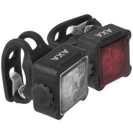 AXA NITELINE 44-R - Set predného a zadného svetla na bicykel