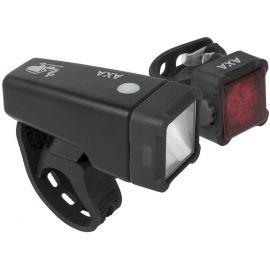AXA NITELINE T4-R - Set předního a zadního světla na kolo