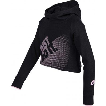 Dievčenská krátka mikina - Nike G NSW HOODIE CROP PE GX - 2