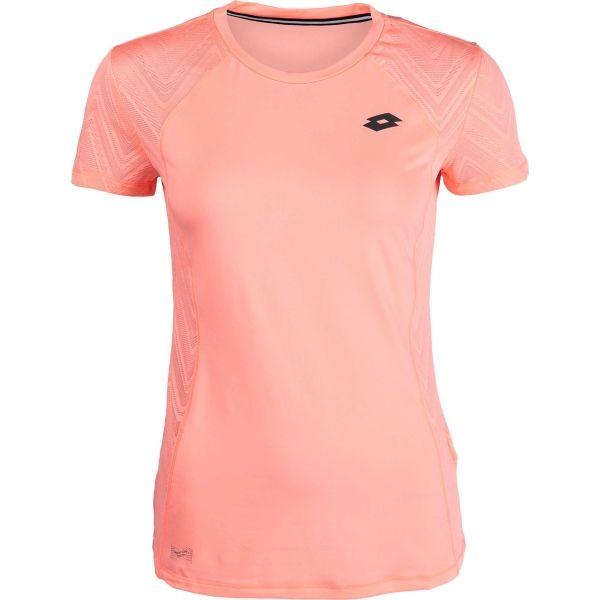 Lotto INDY VI TEE PL W ružová L - Dámske športové tričko