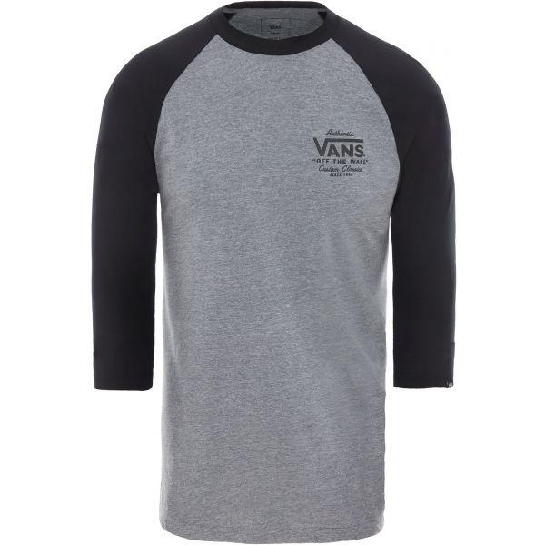 Vans MN HOLDER ST RAGLAN szary M - T-shirt męski