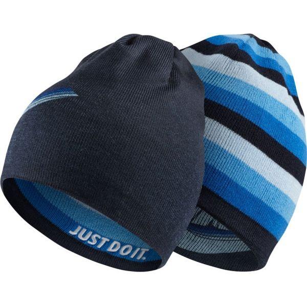 Nike BEANIE REVERSIBLE modrá UNI - Detská obojstranná čiapka
