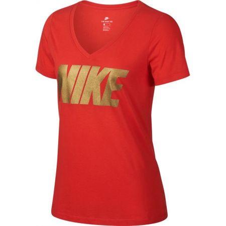 Dámske tričko - Nike NSW TEE NIKE MTLC BLOCK - 1
