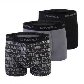 O'Neill BOXERSHORTS 3-PACK NOS LOGO PRINT - Pánske boxerky