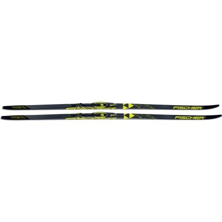 Classic style Nordic skis with uphill travel support - Fischer TWIN SKIN RACE MED/STIFF + RACE CLASSIC - 2