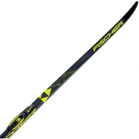 Classic style Nordic skis with uphill travel support - Fischer TWIN SKIN RACE MED/STIFF + RACE CLASSIC - 1