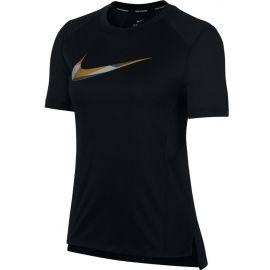 Nike MILER TOP SS METALLIC - Tricou de alergare femei