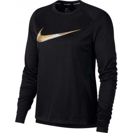 Nike MILER TOP LS METALLIC - Women's running T-shirt
