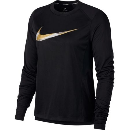 Women's running T-shirt - Nike MILER TOP LS METALLIC - 1