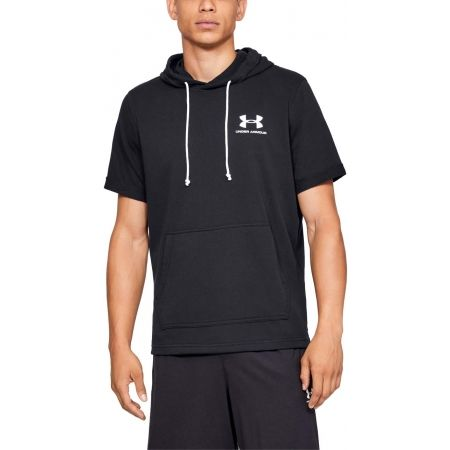 Men's T-shirt - Under Armour SPORTSTYLE TERRY SS HOODY - 4
