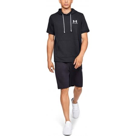 Men's T-shirt - Under Armour SPORTSTYLE TERRY SS HOODY - 3
