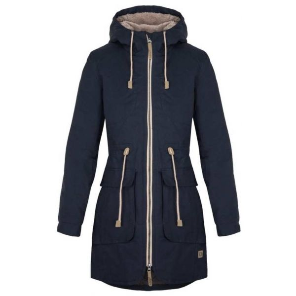 Loap NOELA tmavě modrá L - Dámský kabát